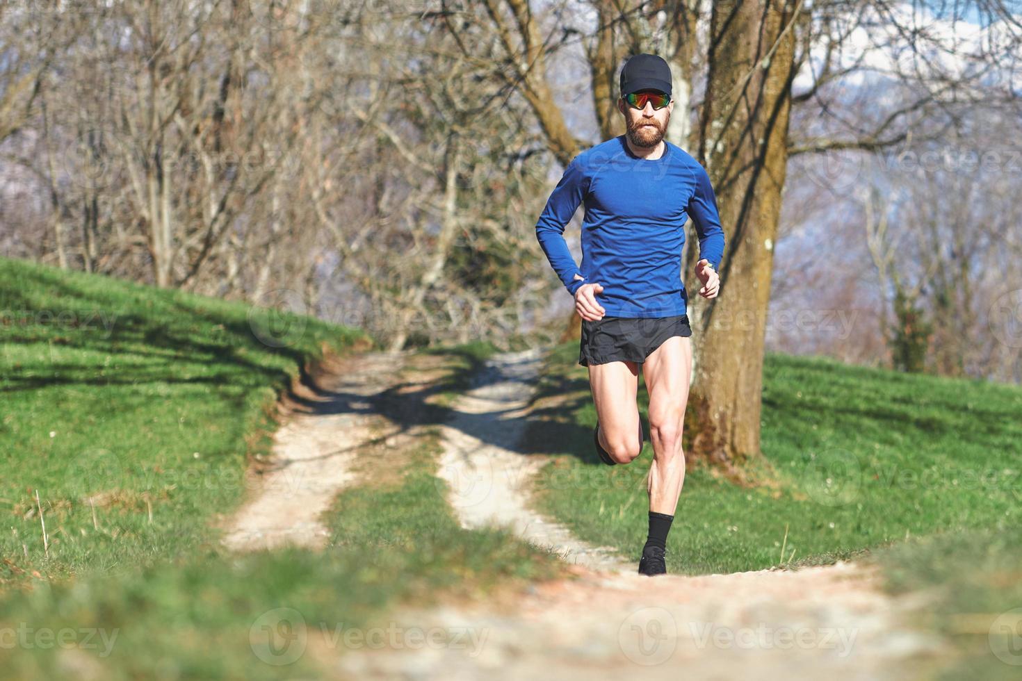 marathonloper op een parcours foto