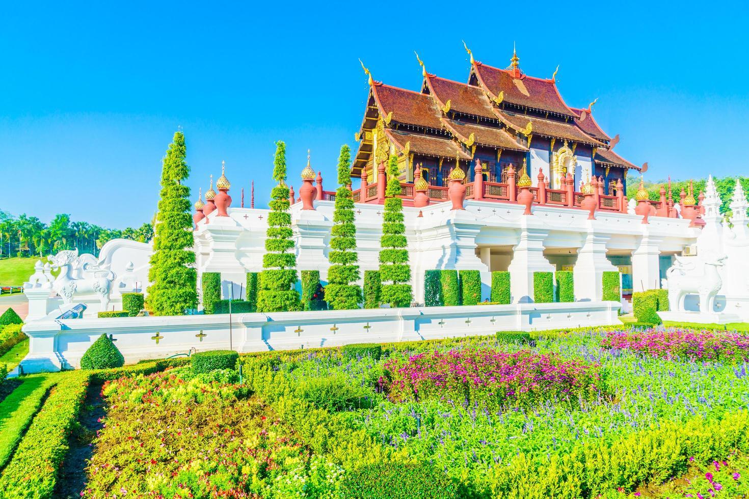 koninklijk paviljoen in chaing mai, thailand foto