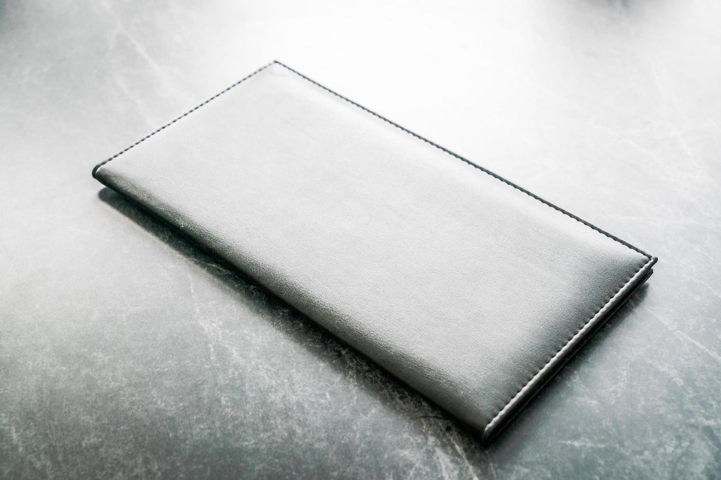 zwart mock-up boek foto