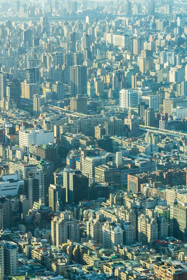 stadsgezicht van de stad van taipei in taiwan foto