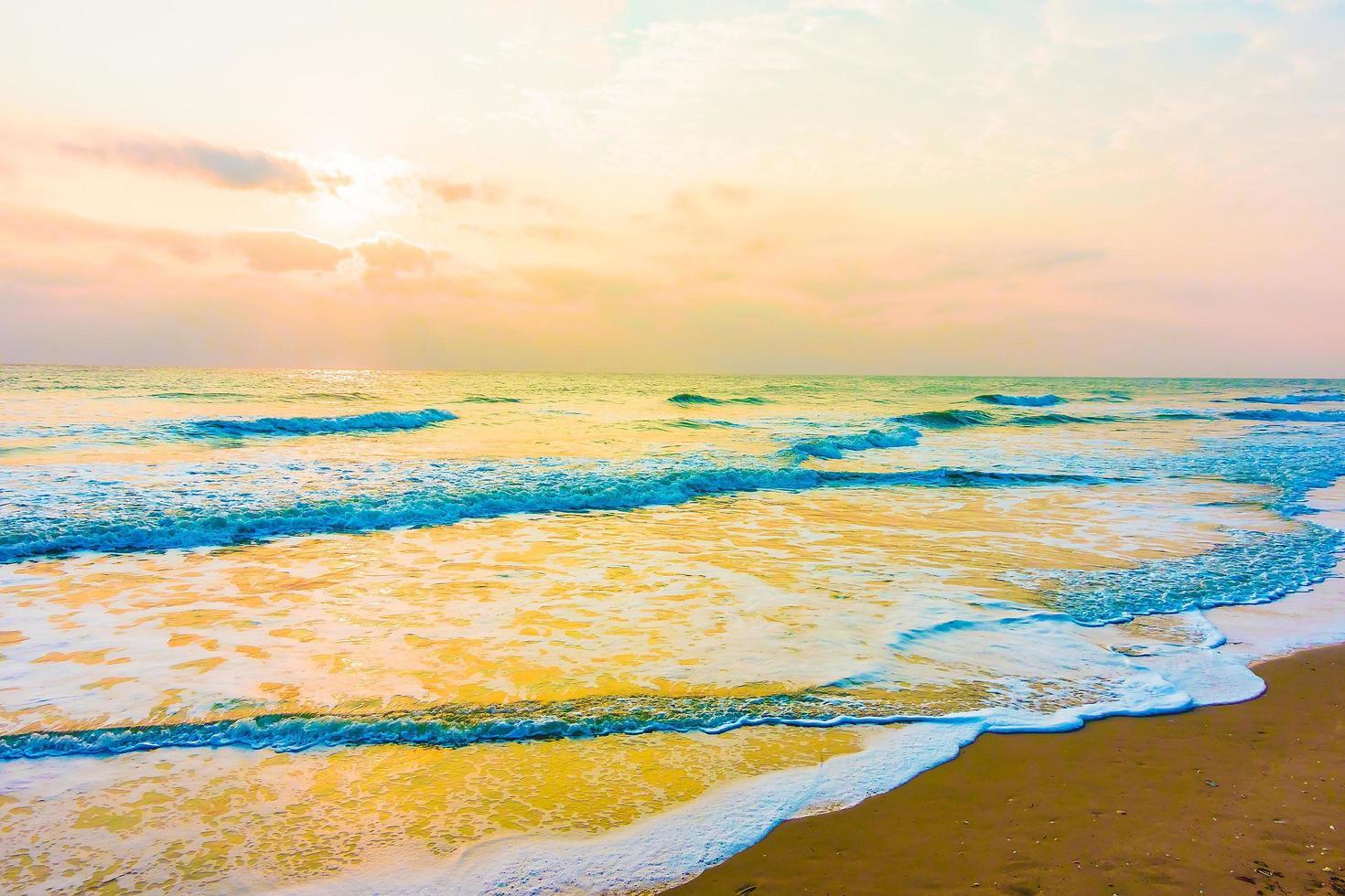 vintage zee en strand foto