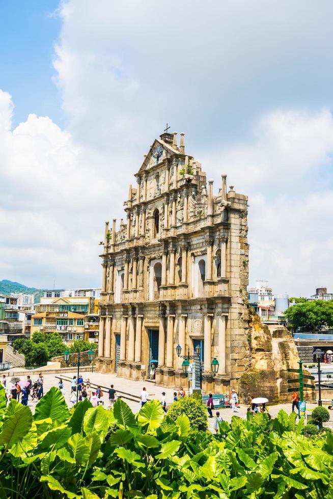 ruïnes van st. paul kerk in macau stad, china foto