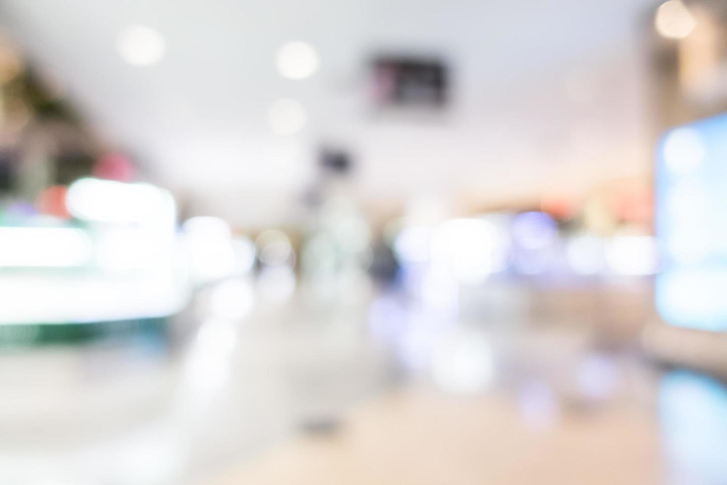 abstracte onscherpte superstore en winkelcentrum foto