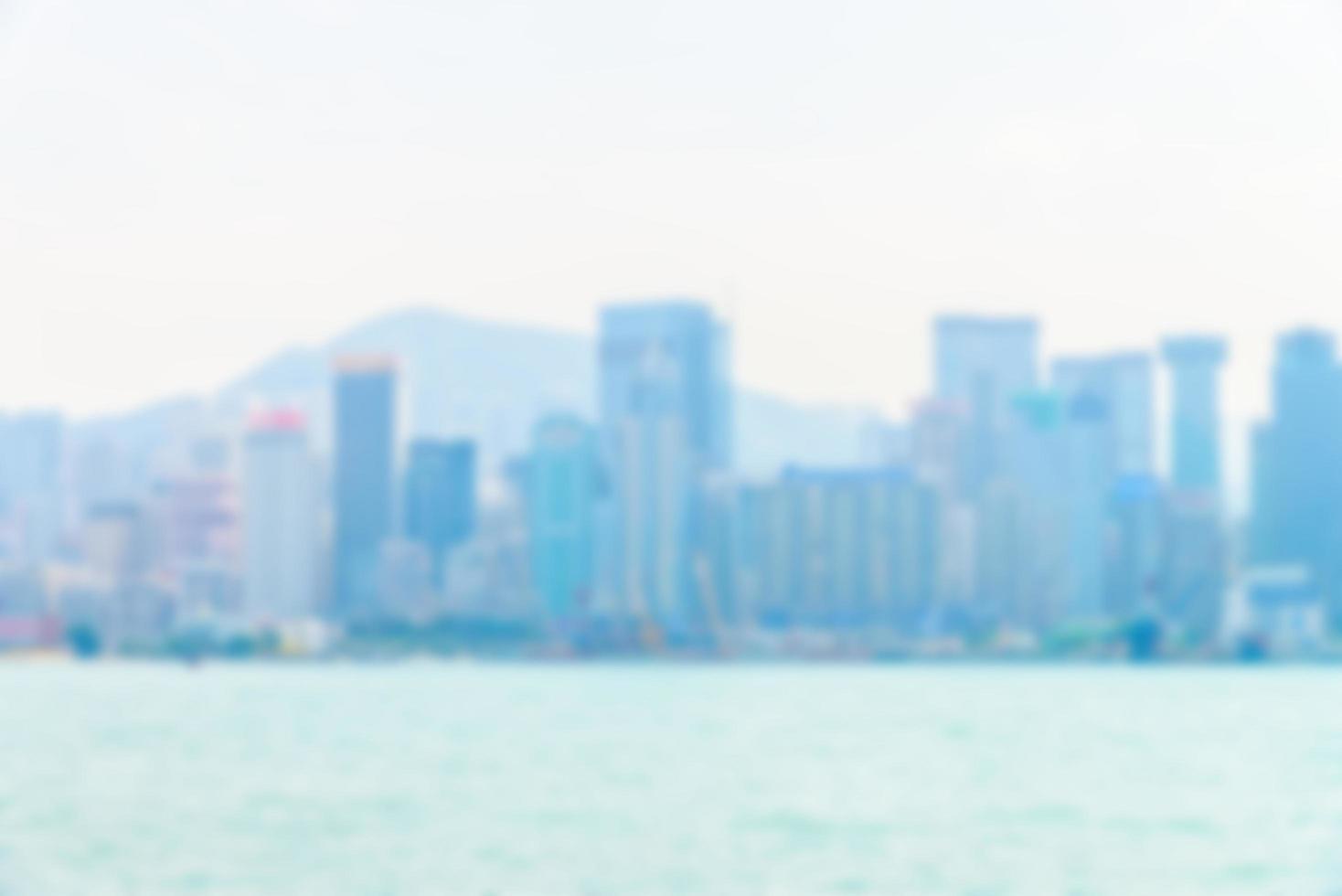 abstract intreepupil skyline van Hong Kong foto