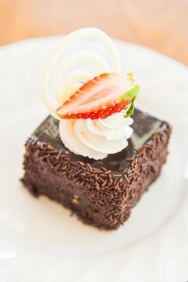 dessert chocoladetaart foto