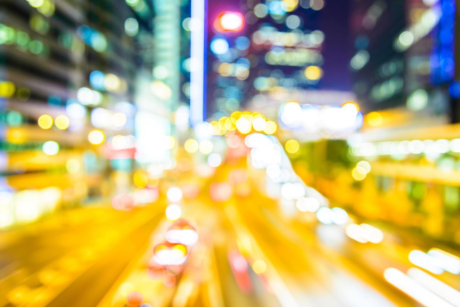 abstracte vervagen hong kong stad achtergrond foto