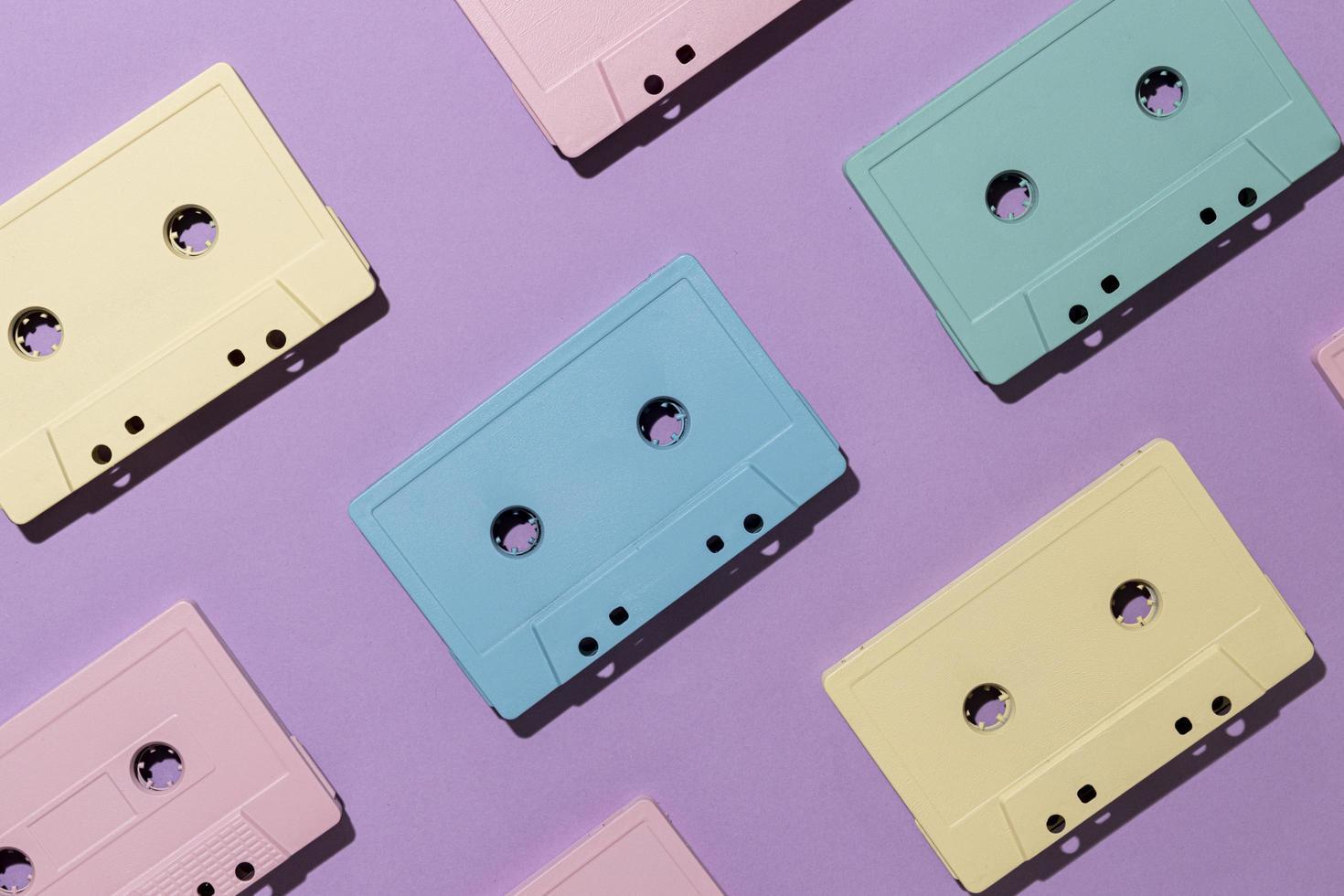 vintage cassettebandjes arrangement foto