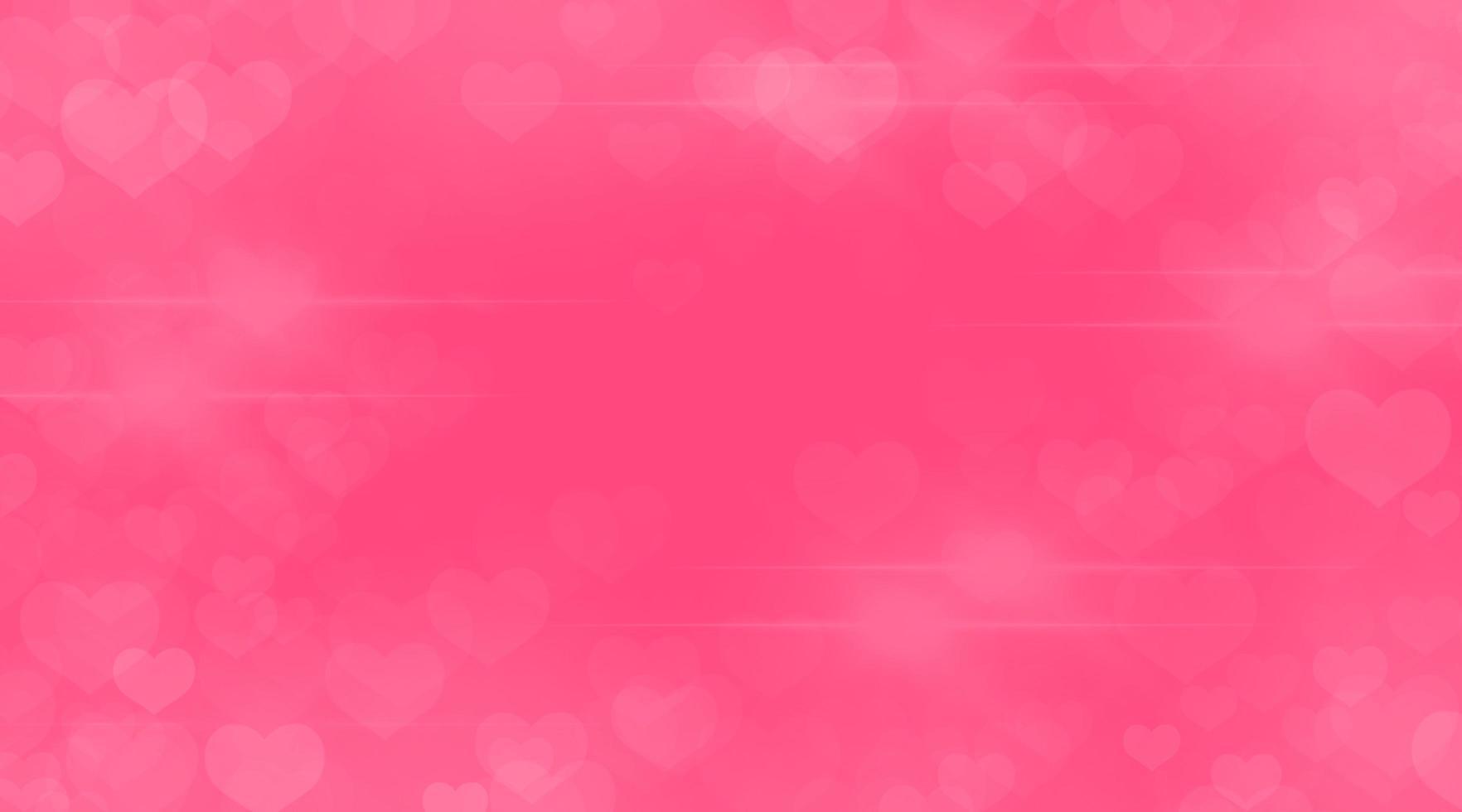 Valentijnsdag abstract met bokeh hart vormen op een roze achtergrond foto