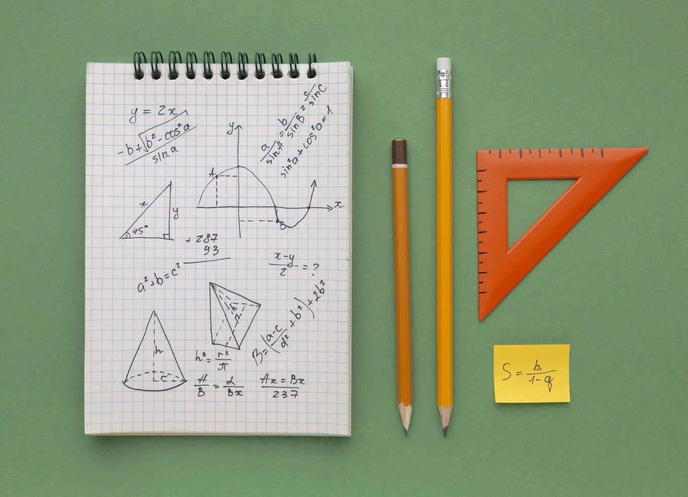wiskunde huiswerk samenstelling foto