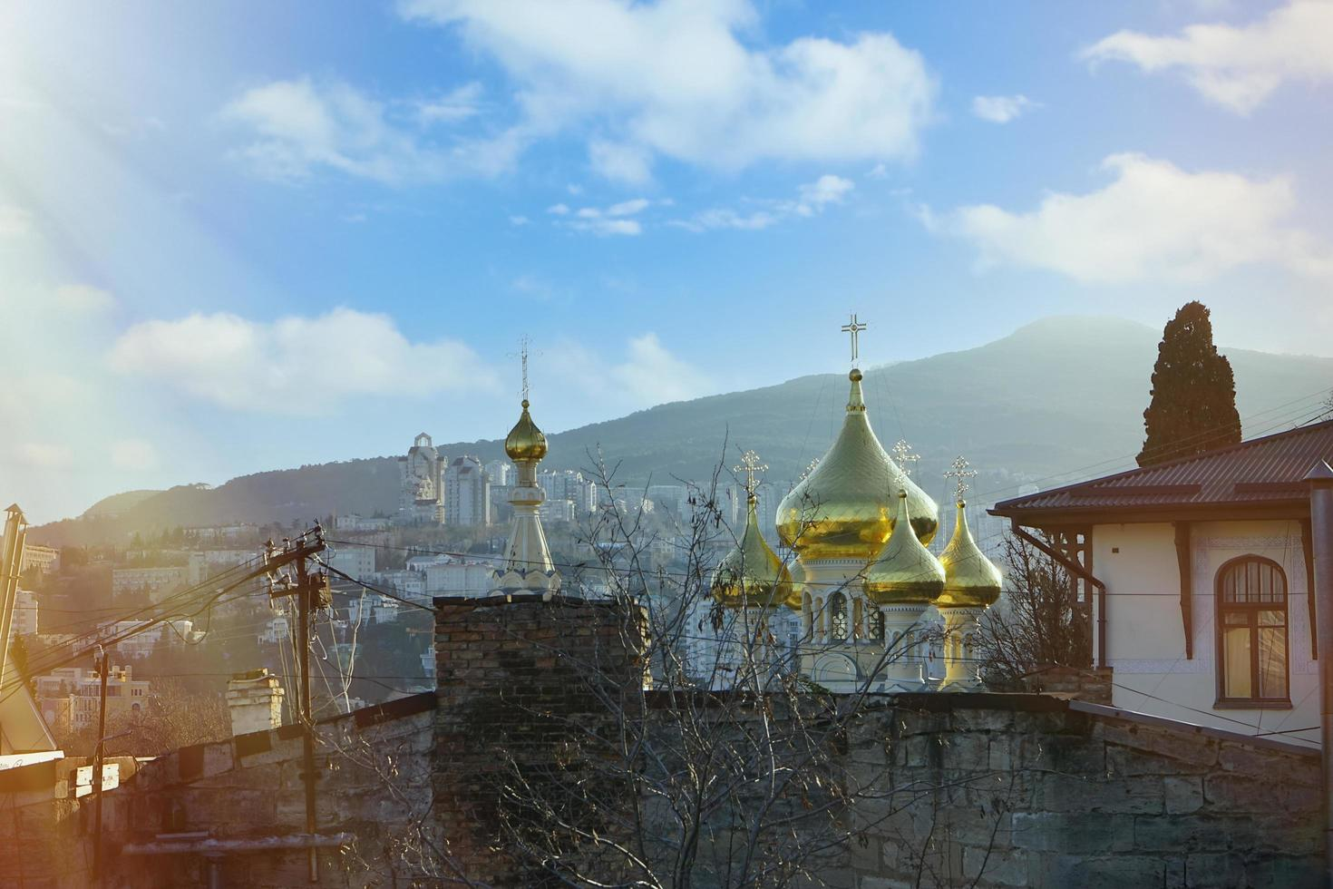 Yalta, de Krim. Stedelijk landschap foto