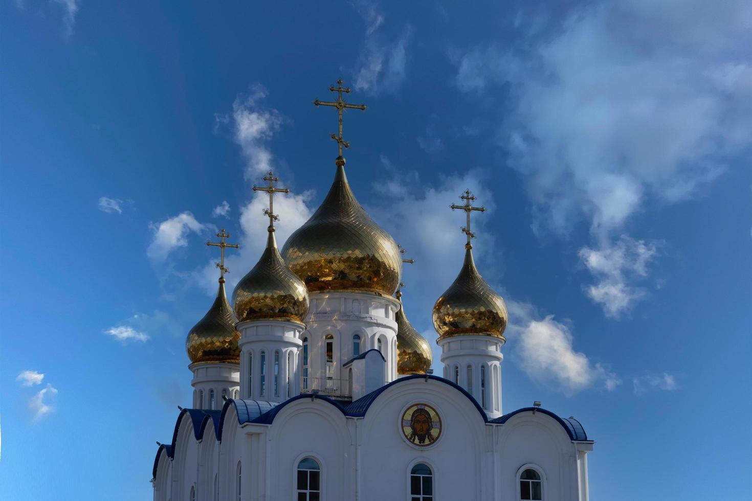 russisch-orthodoxe kathedraal - petropavlovsk-kamchatsky foto