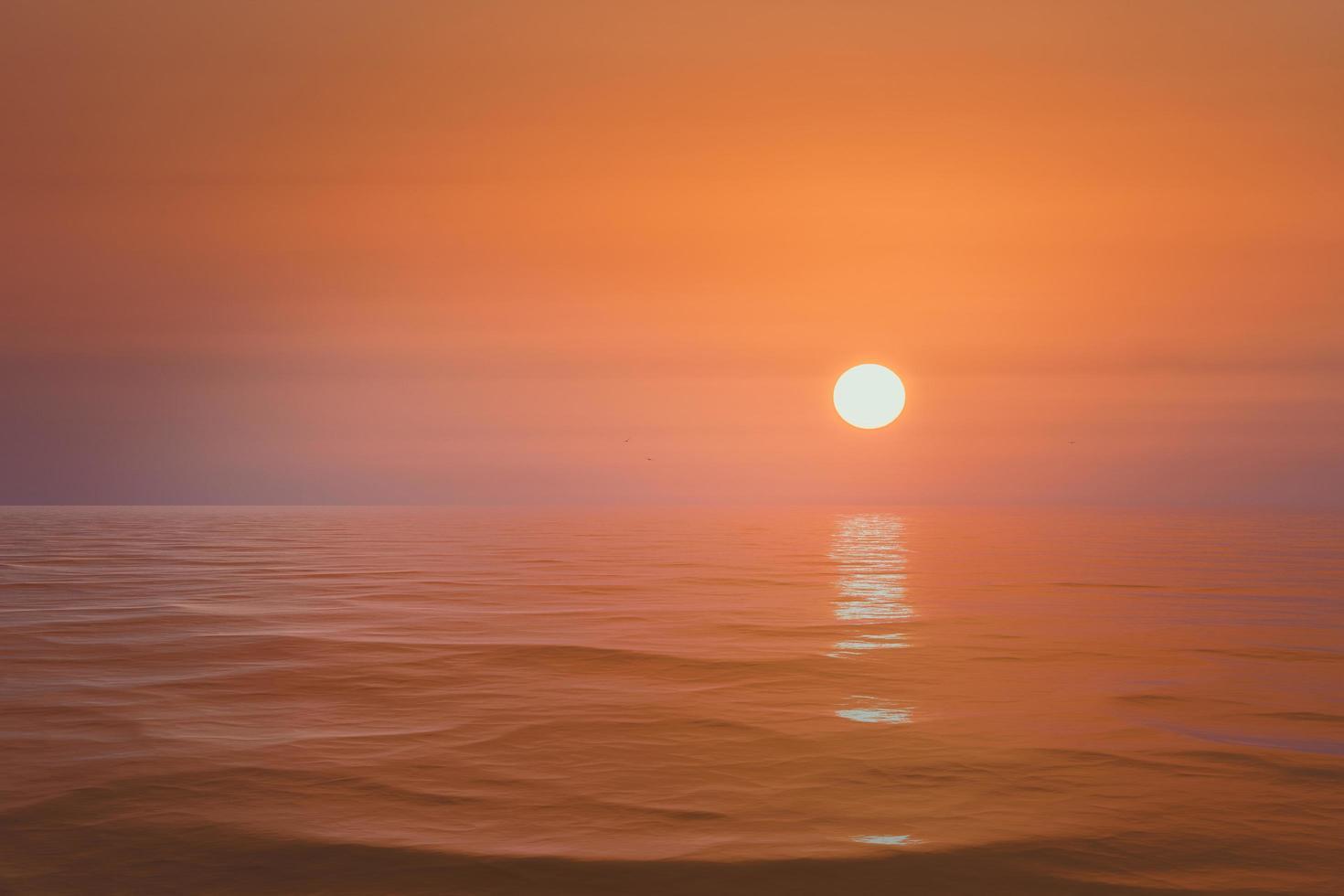 heldere zonsondergang op de zee achtergrond zee foto