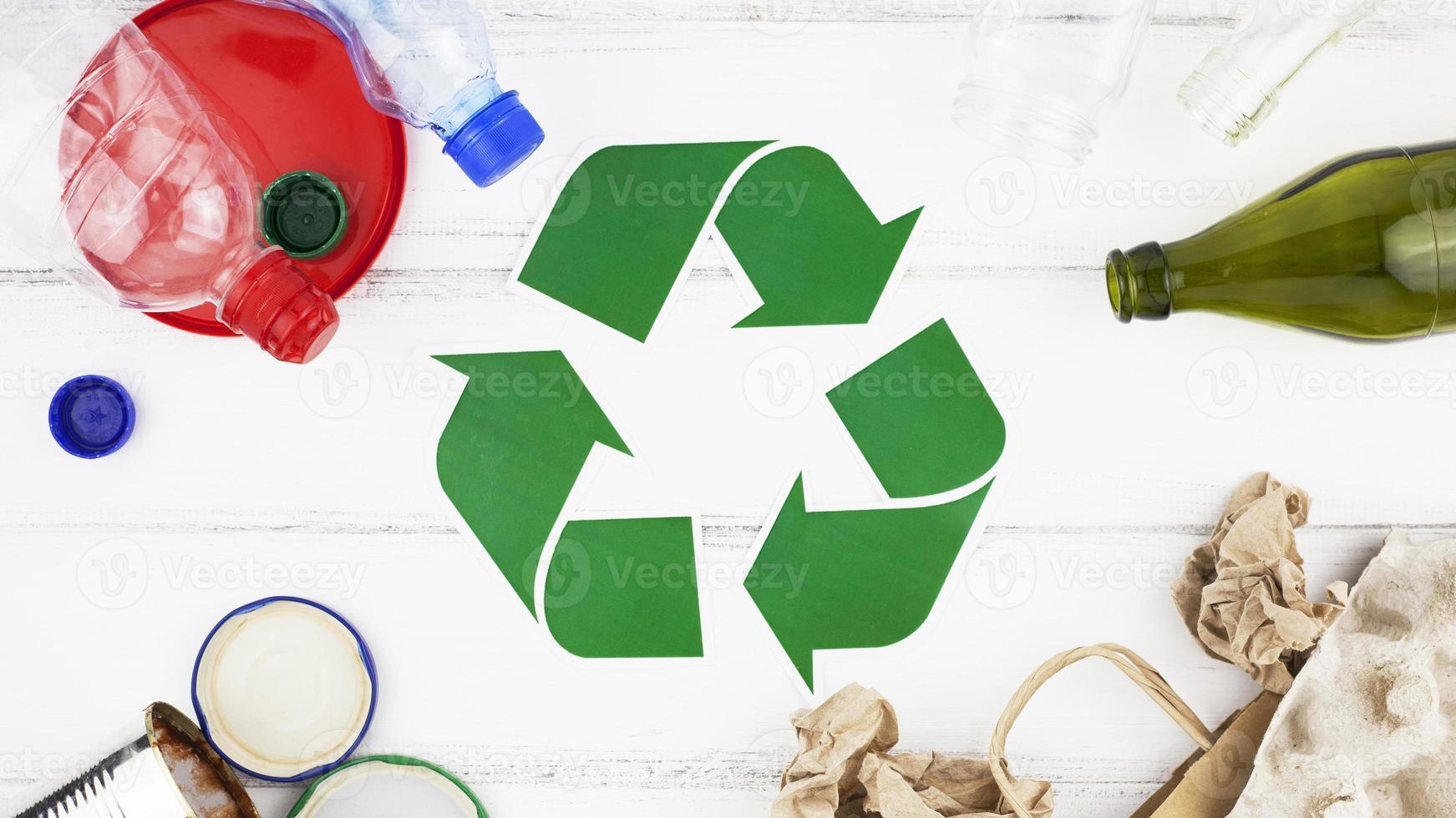 recycle samenstelling plat foto