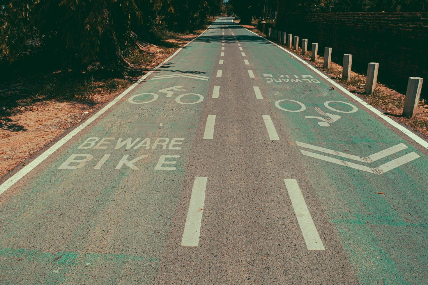 lege fietspaden of fietspaden foto