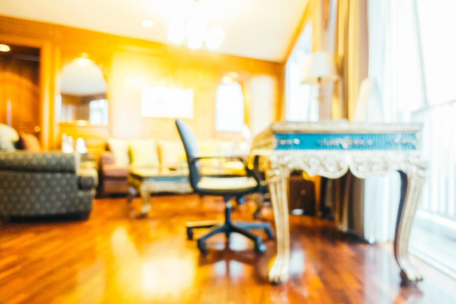 abstracte onscherpte en onscherpe woonkamer interieur foto
