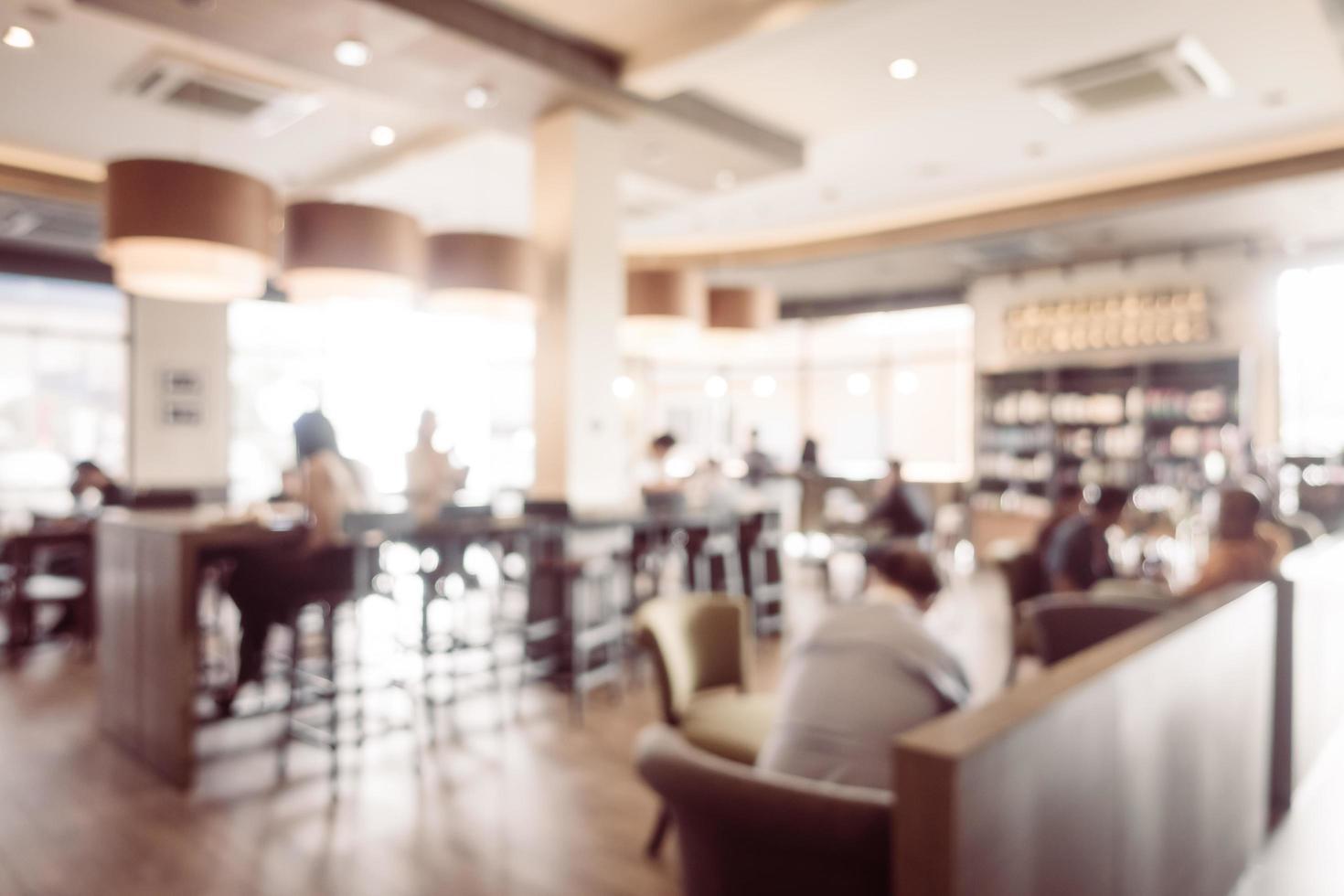 abstract vervagen coffeeshop en restaurant interieur foto