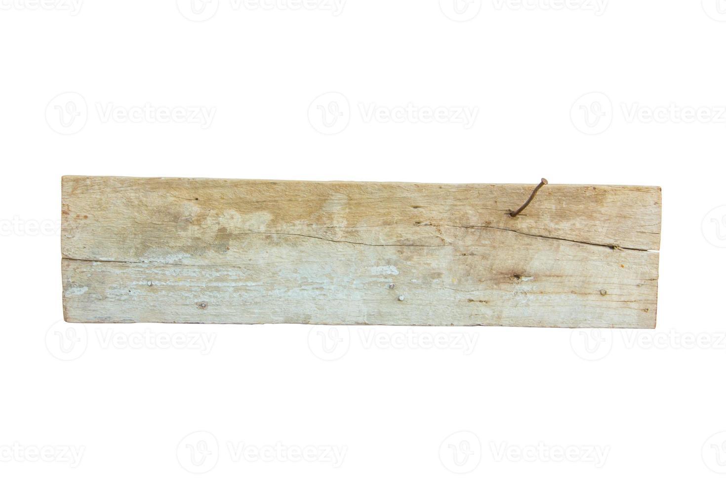 close-up van een leeg houten bord op wit foto
