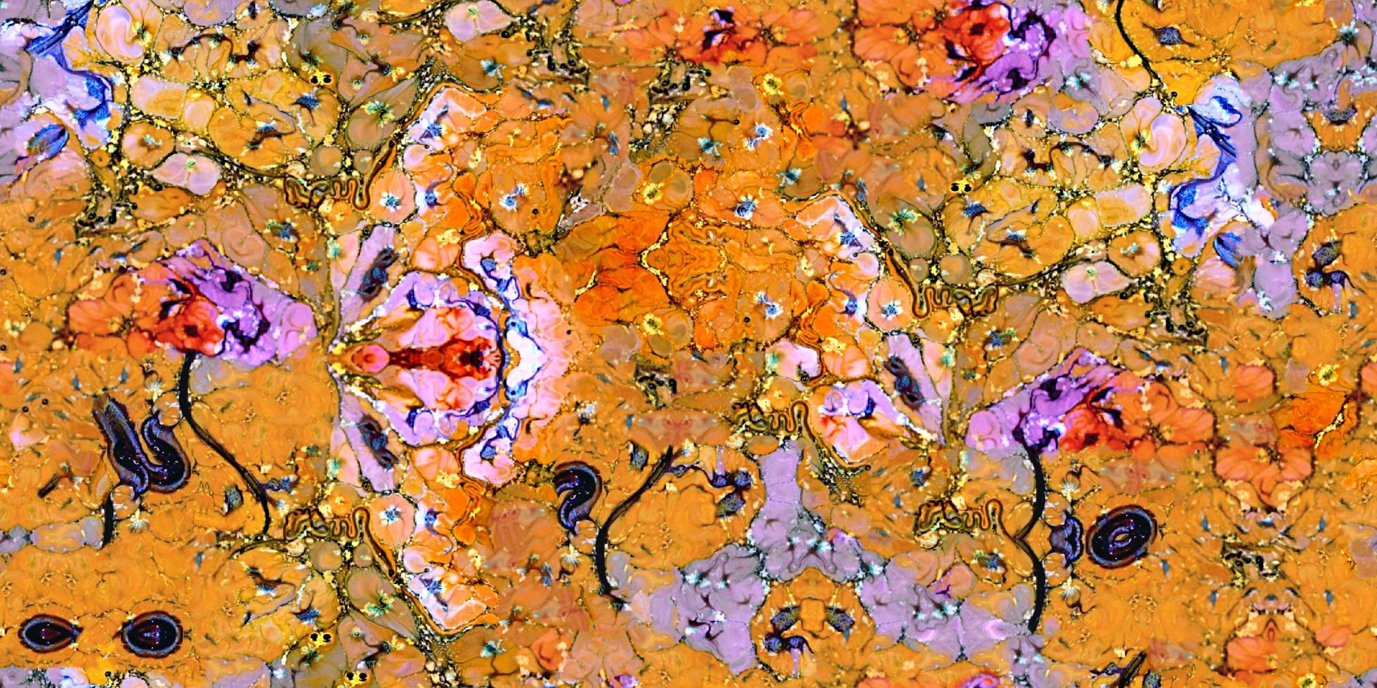 abstracte kleurrijke verf surrealistische samless en betegelbare achtergrond foto
