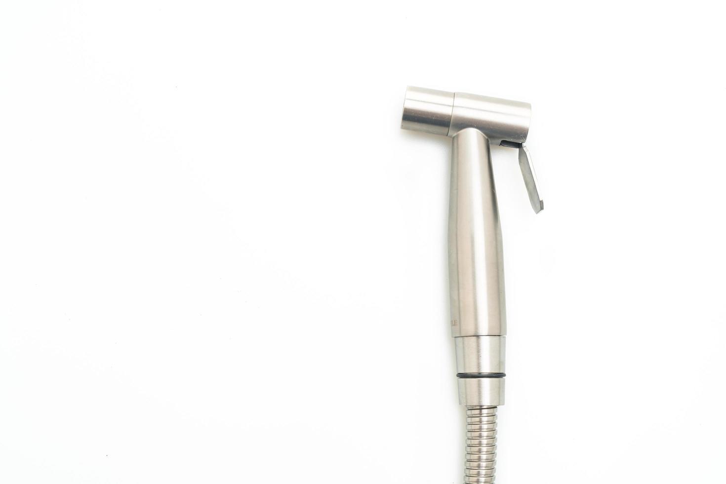 handheld bidet of bidet douche, bidet spray, bidet sproeier, geïsoleerd op een witte achtergrond foto