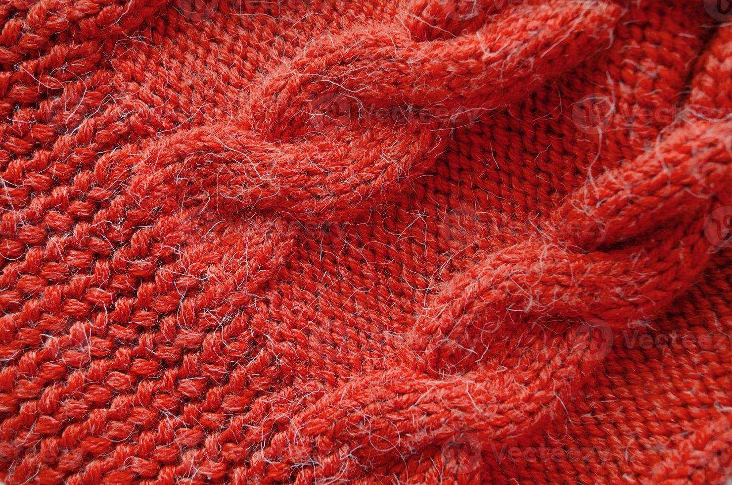 gebreide achtergrond. gebreide textuur. breipatroon van wol. foto