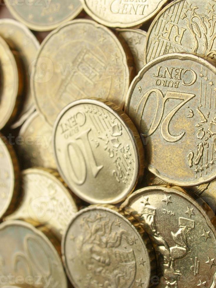 euromunten achtergrond foto