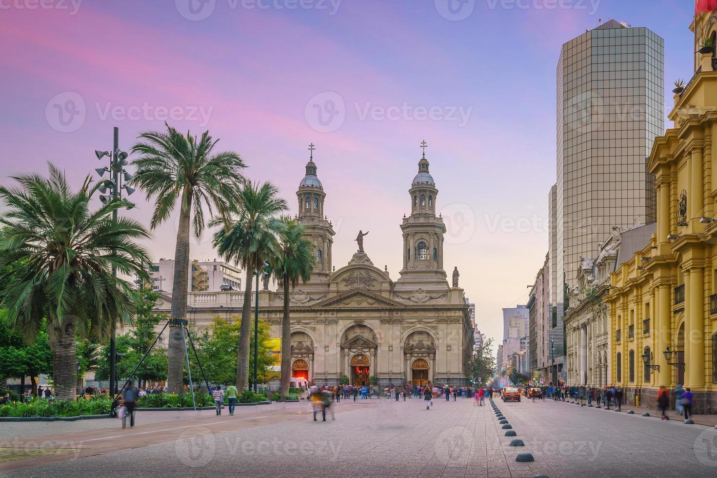 plaza de las armas-plein in santiago foto