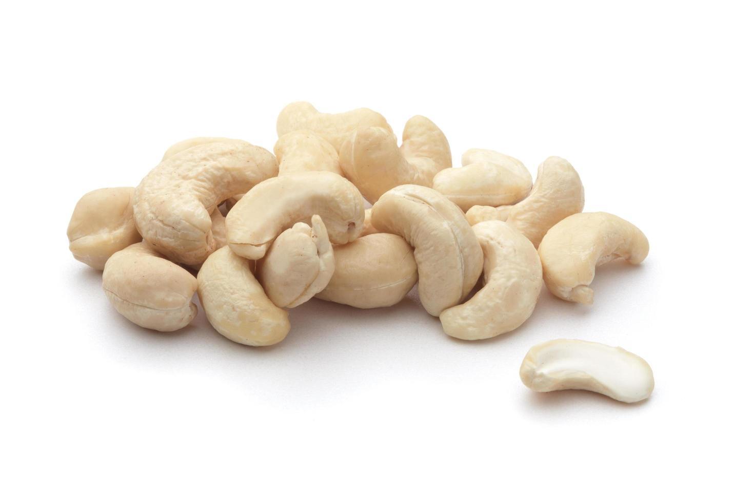 cashewnoten geïsoleerd foto
