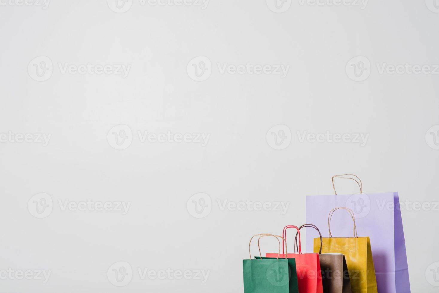 kleurrijke boodschappentassen foto