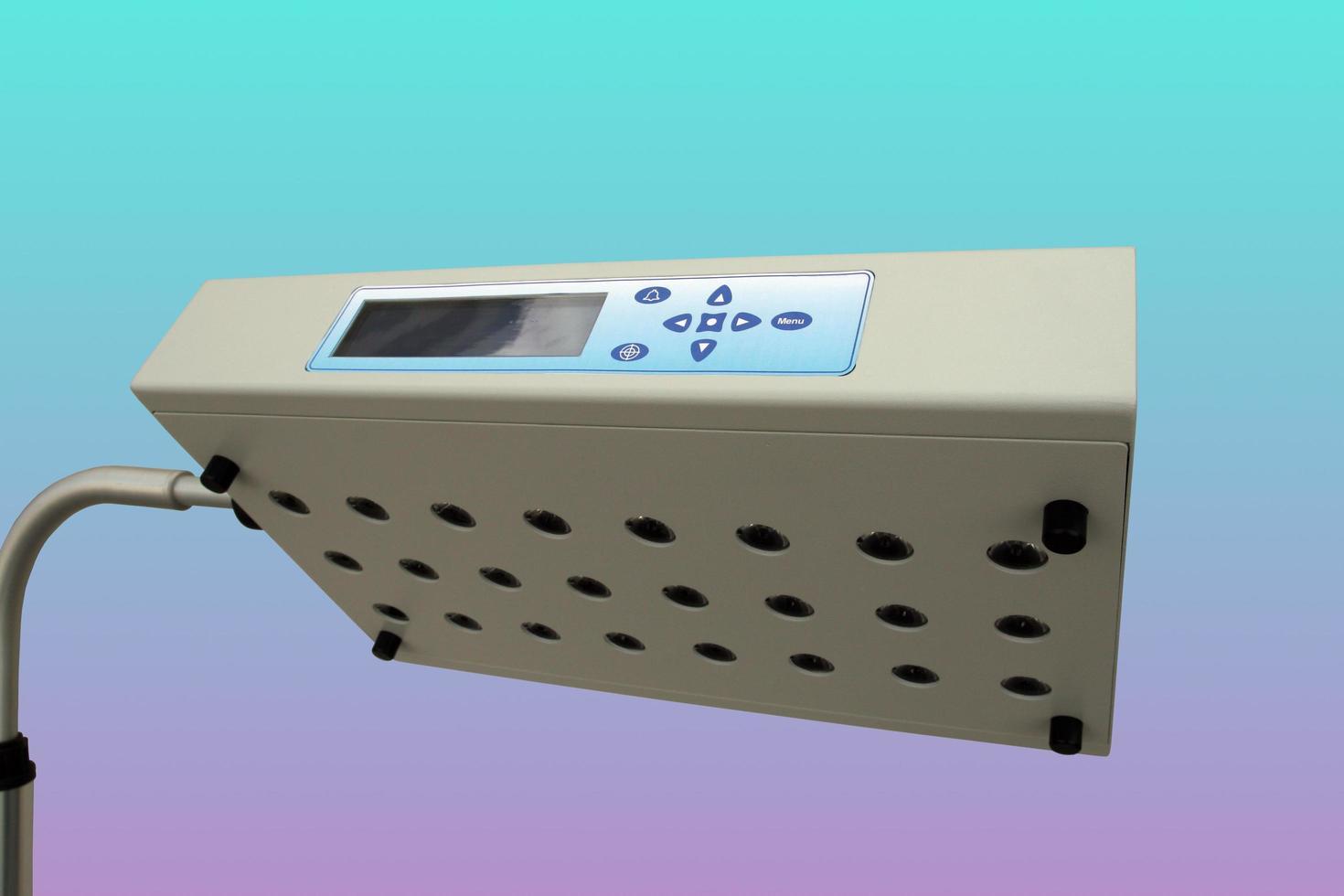 blauw licht gebruikt voor de behandeling van geelzucht bij pasgeboren baby's foto