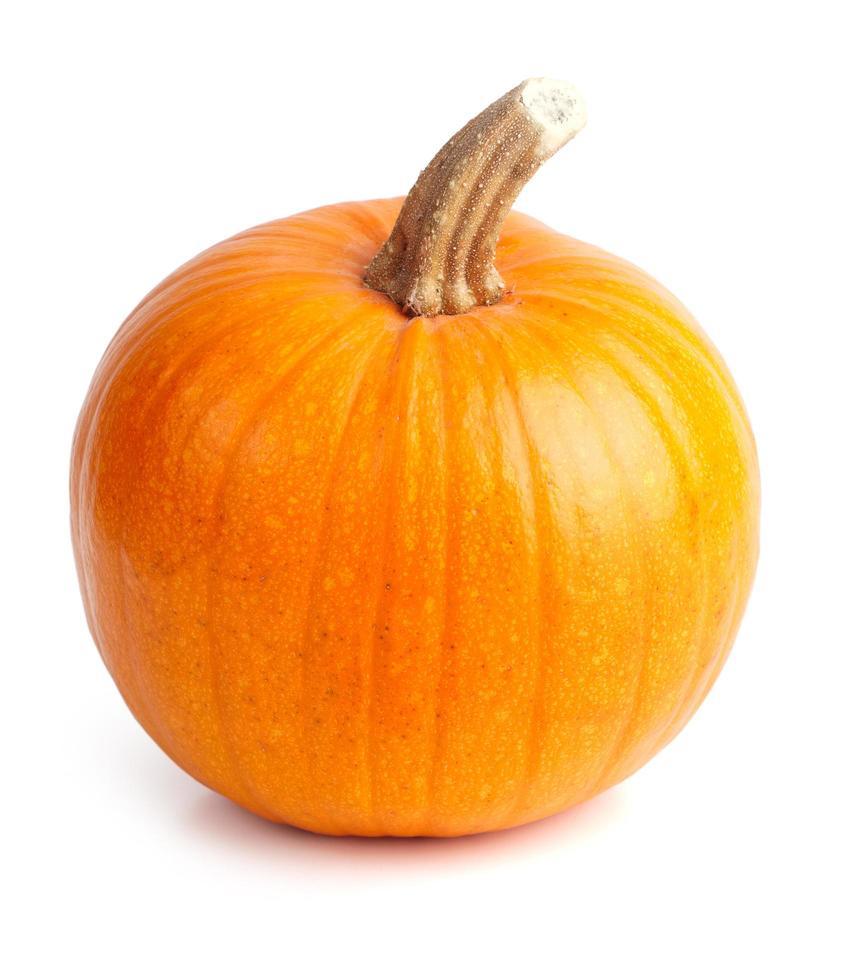 rijpe oranje pompoen foto