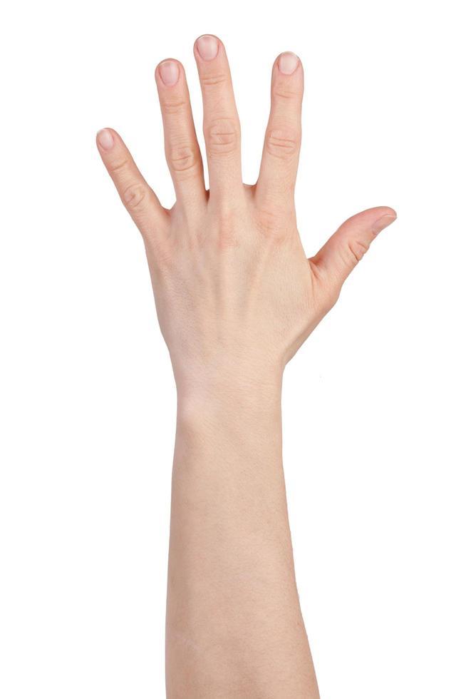 handpalm met gespreide vingers foto