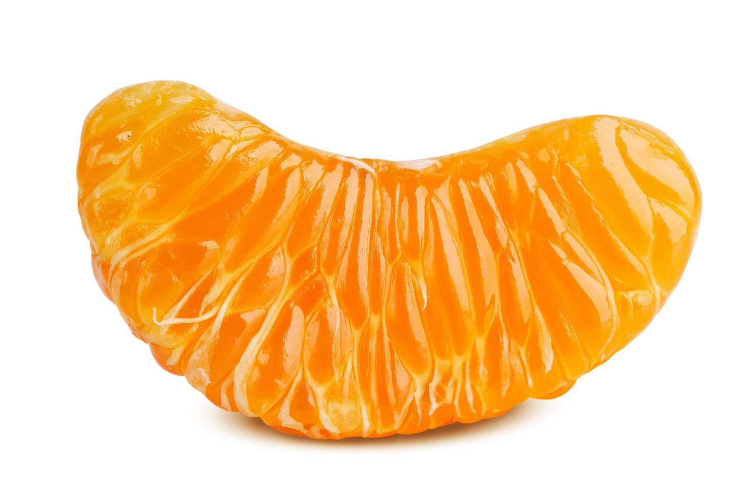 heerlijk plakje rijpe mandarijn foto