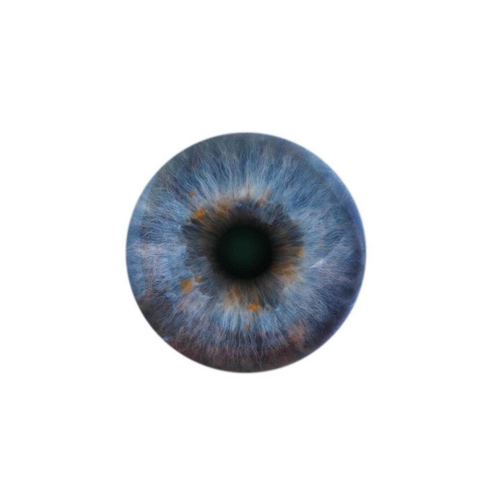 blauwe pupil van het menselijk oog foto