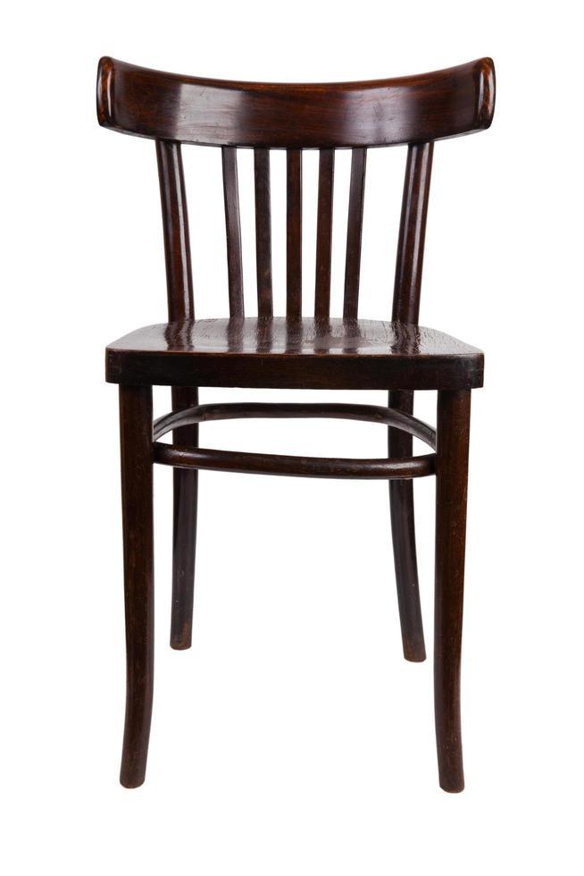 oude houten stoel foto