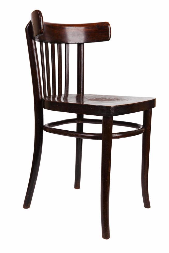 vintage bruine houten stoel foto