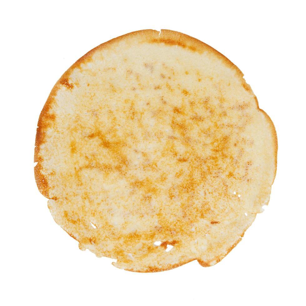ronde gebakken pannenkoek foto