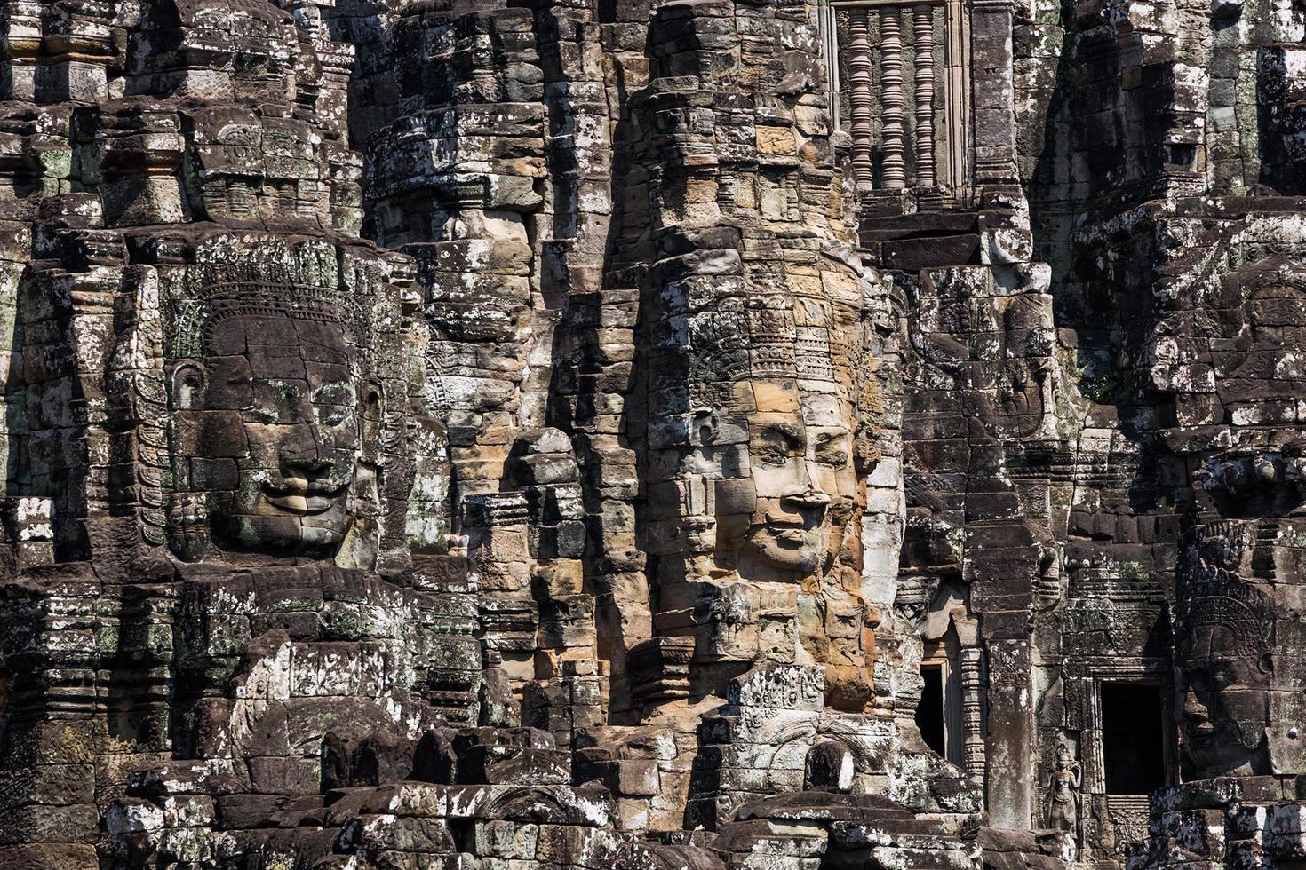prasat bayon in siem reap provincie cambodja. foto