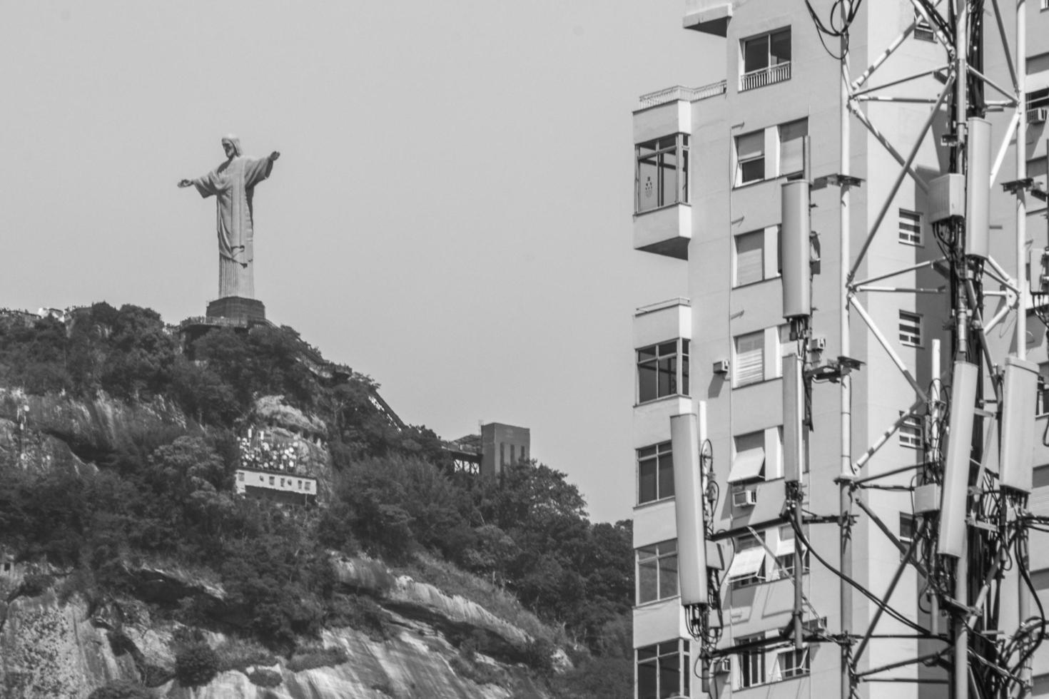 rio de janeiro, brazilië, 2021 - christus de verlosser foto