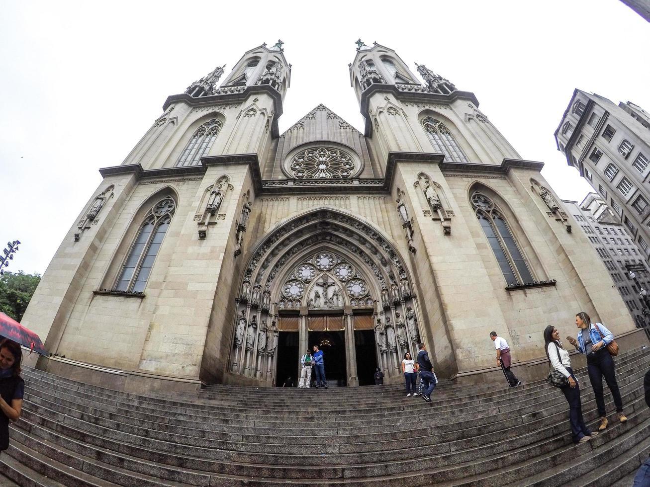 sao paulo, brazilië, 01 jan 2015 - se kerk in het centrum van sao paulo foto
