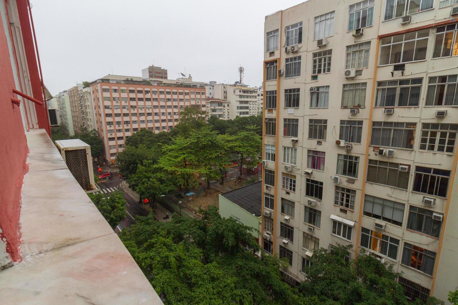 rio de janeiro, brazilië, 2015 - uitzicht op de copacabana-buurt foto
