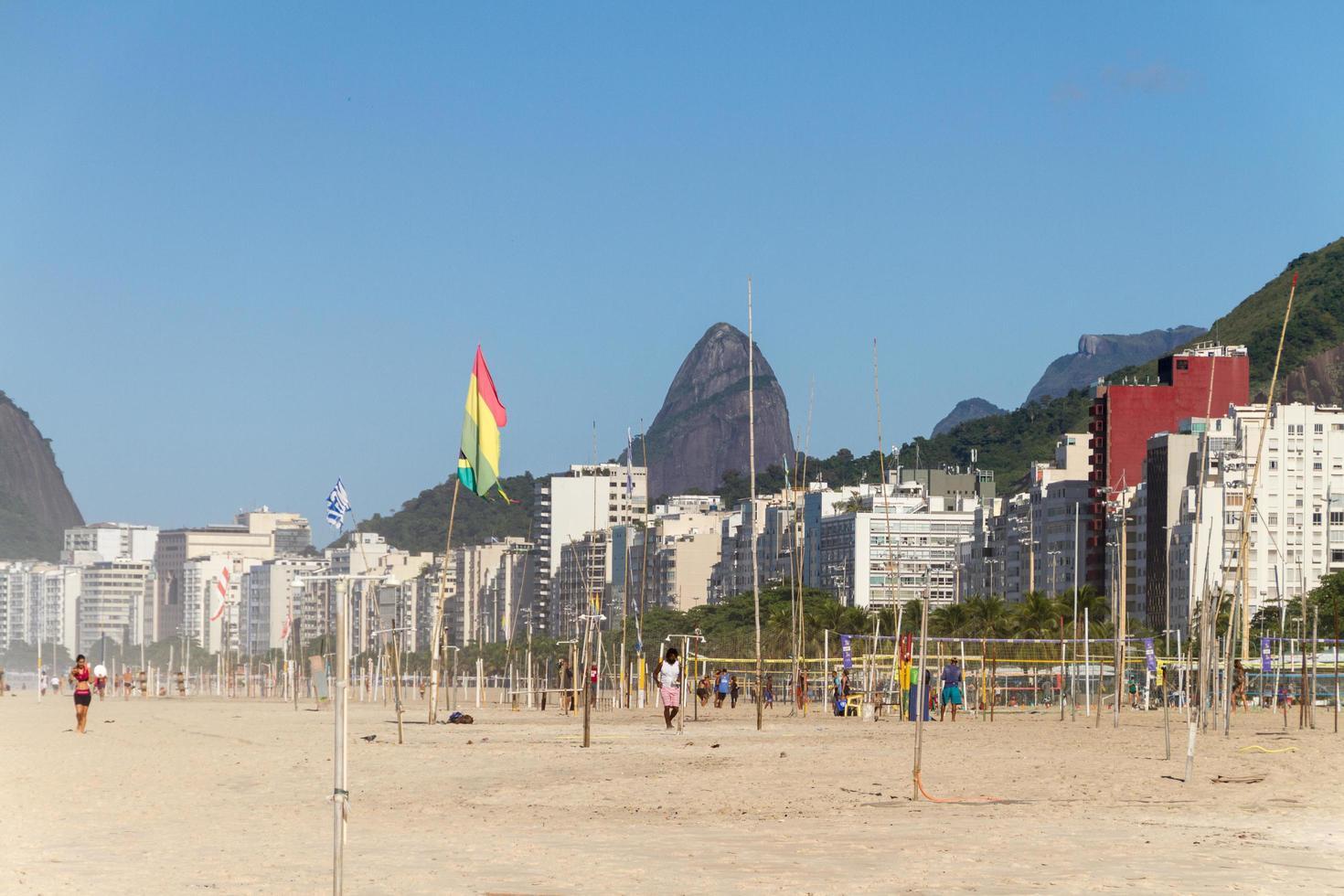 rio de janeiro, brazilië, 2015 - uitzicht op het strand van copacabana foto