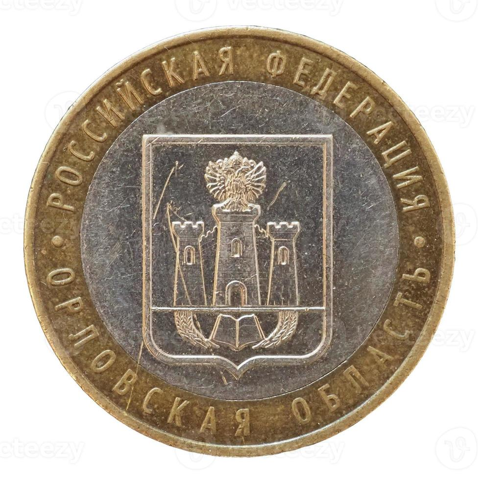 10 roebel munt, rusland foto