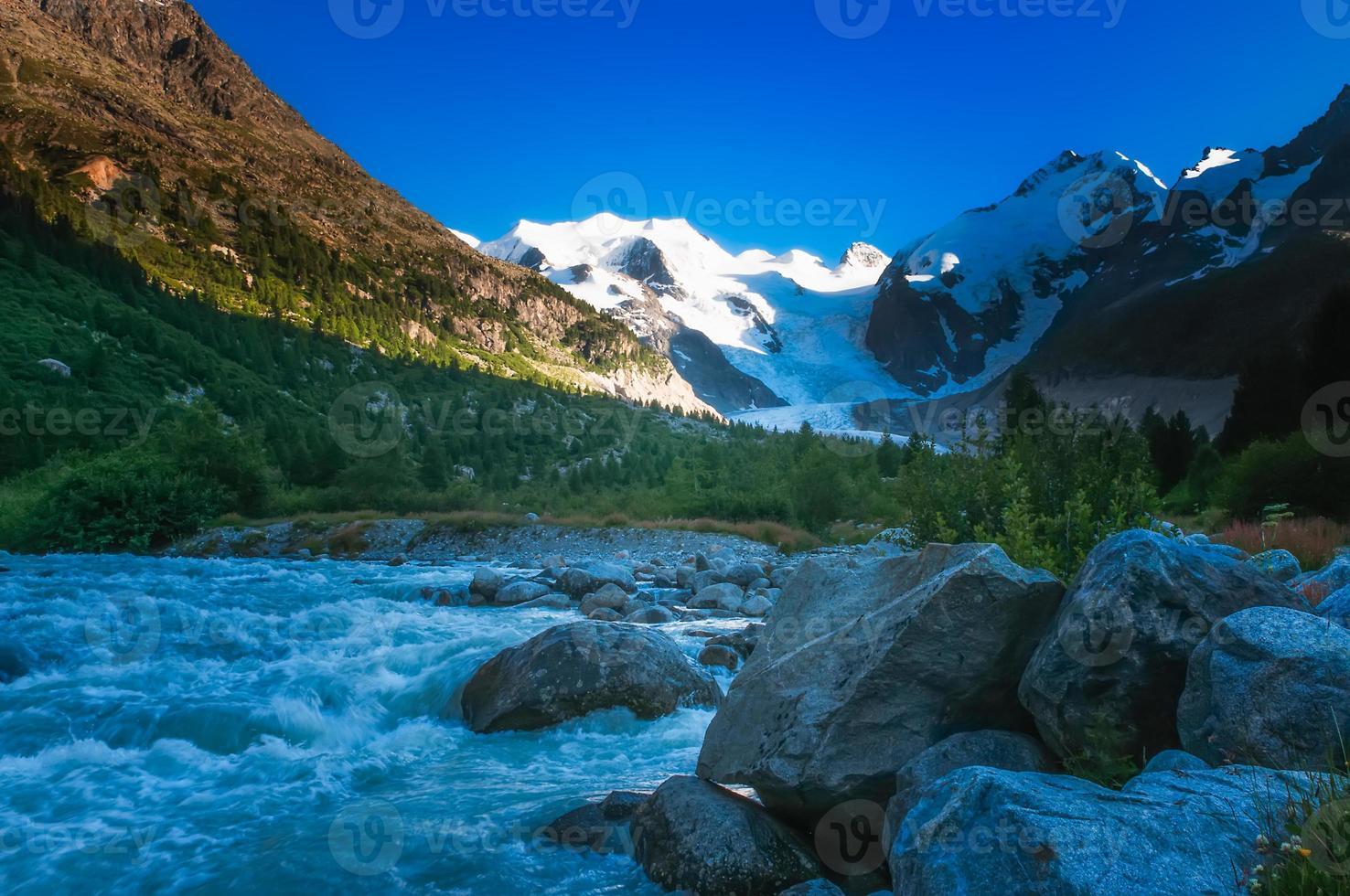 de gletsjerrivier foto