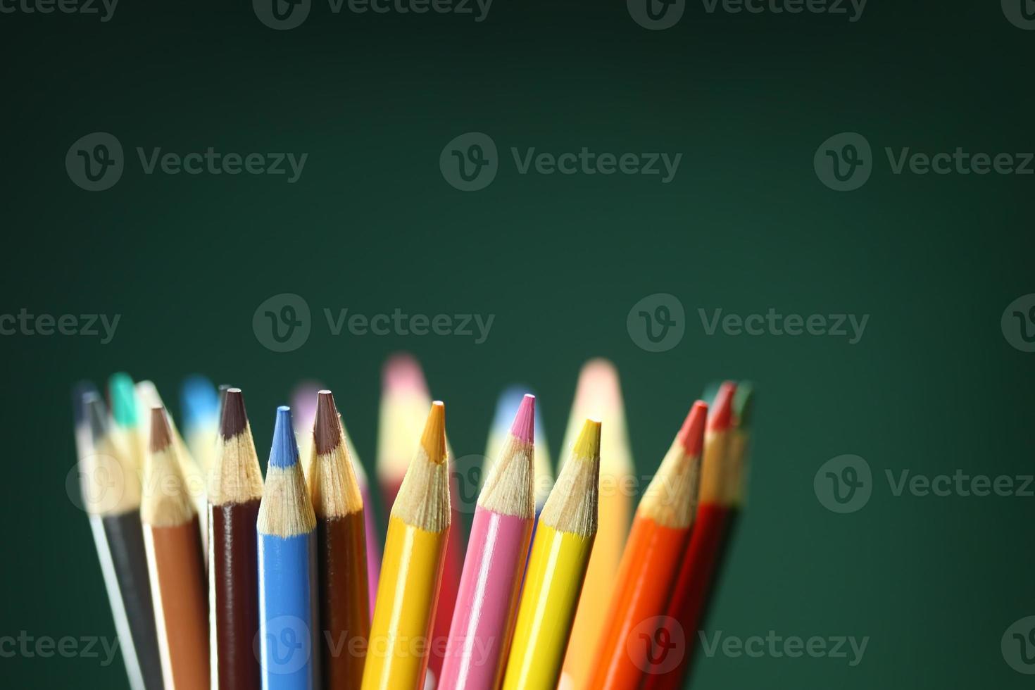 schoolkleurpotloden met extreme scherptediepte foto