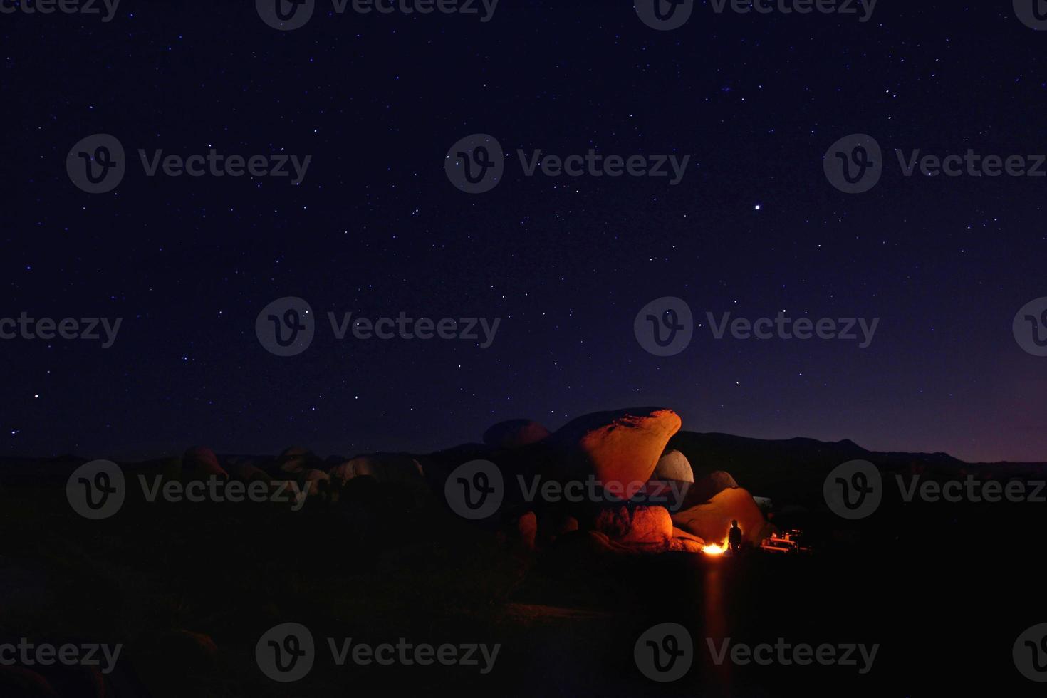 nacht kamperen in Joshua Tree National Park foto