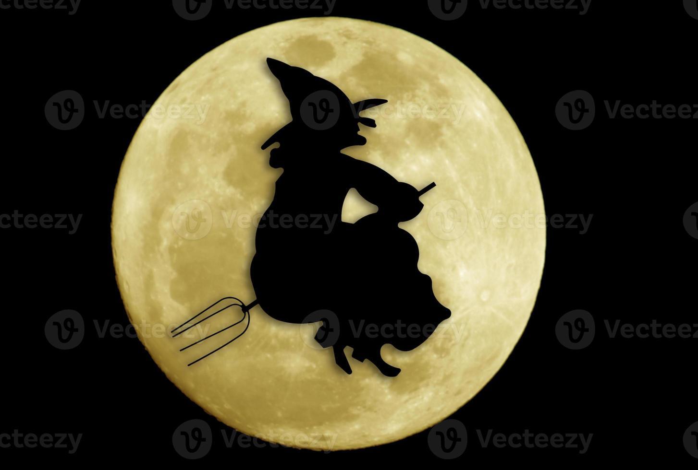 halloween heks silhouet foto