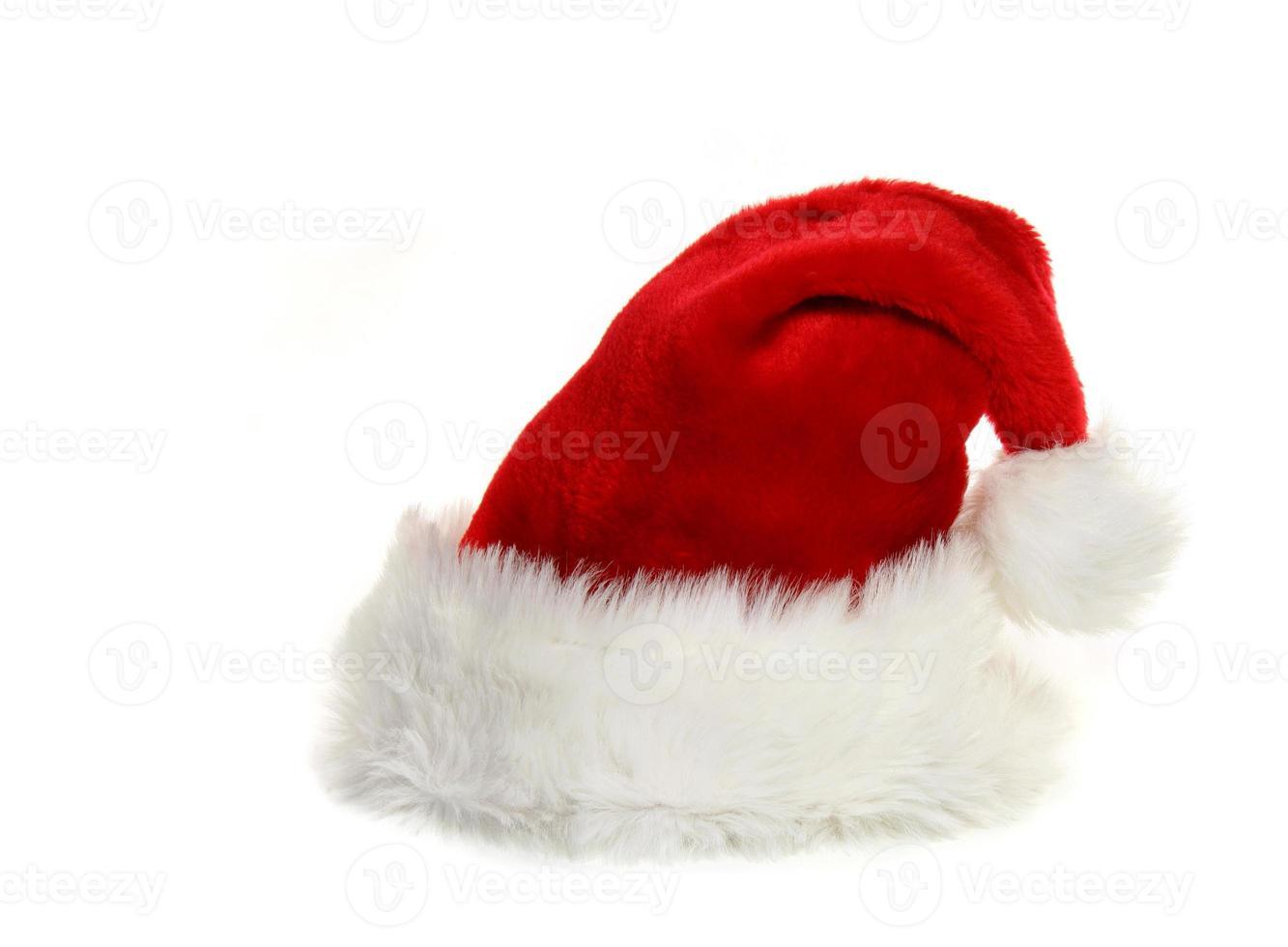 kerstman hoed op wit foto