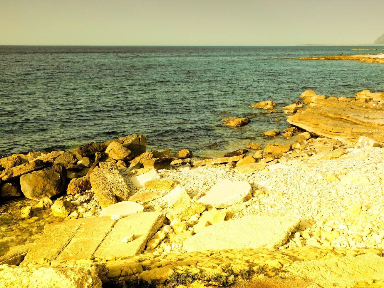 buiten zee overdag foto