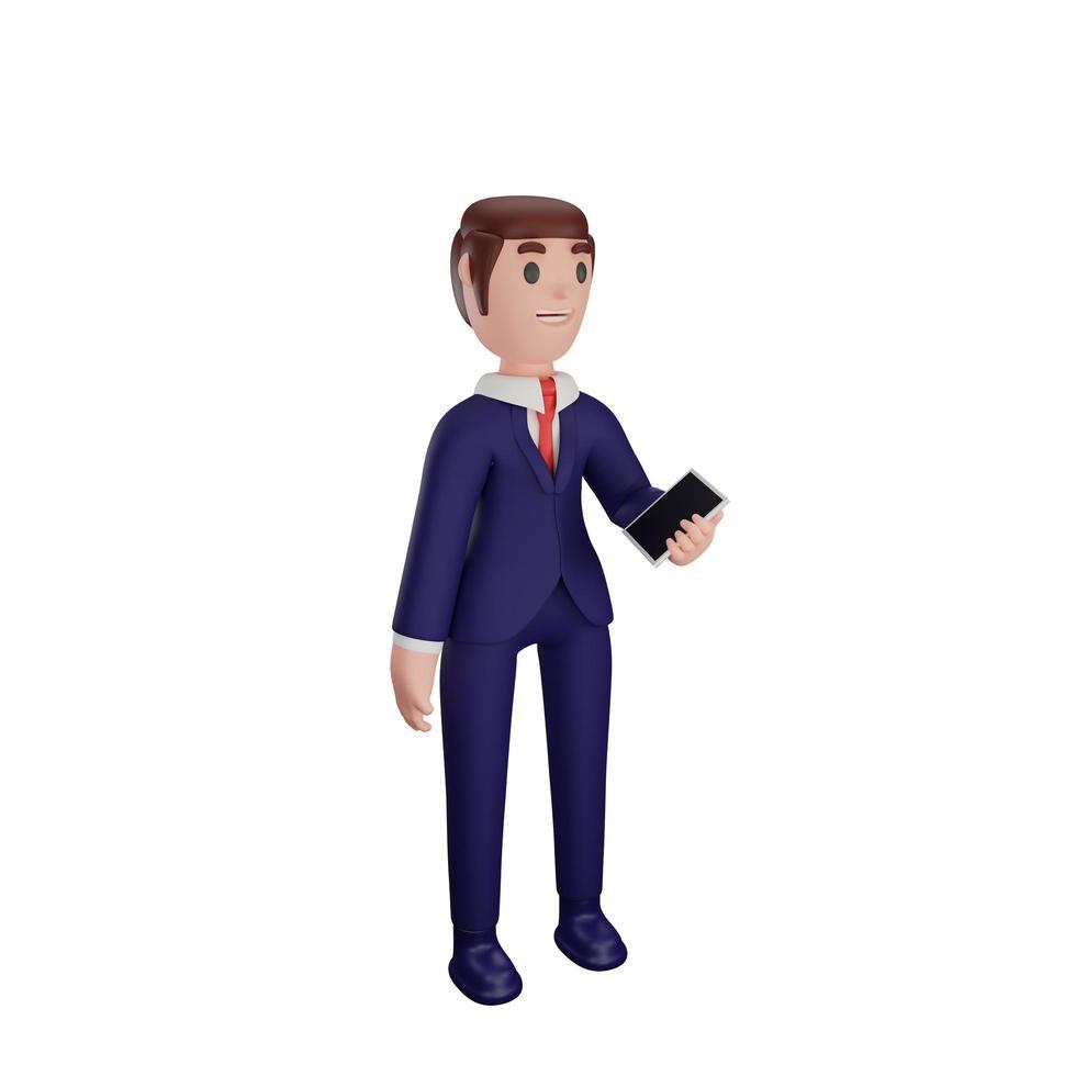 karakter met bedrijfsconcept foto