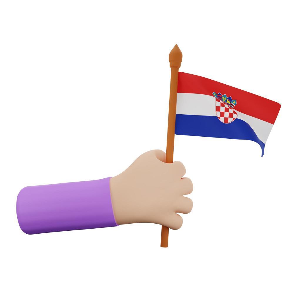 Kroatië nationale feestdag concept foto